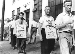 Old Time Labor Strike